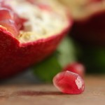 menopause represented by a pomegranate seed